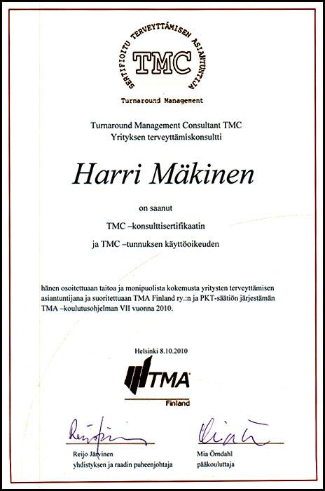 sertifioitu TMC –konsultti